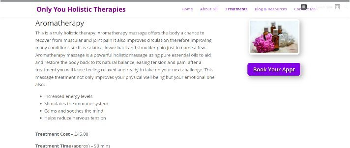 only you treatments page