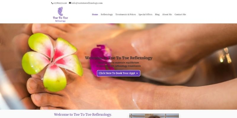 Image of annaleepalmistry.com home page created by Sarah Lynn of Simple Online Solutions