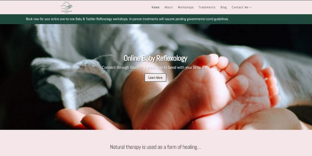 Natural Therapies by Katie website created by Sarah Lynn